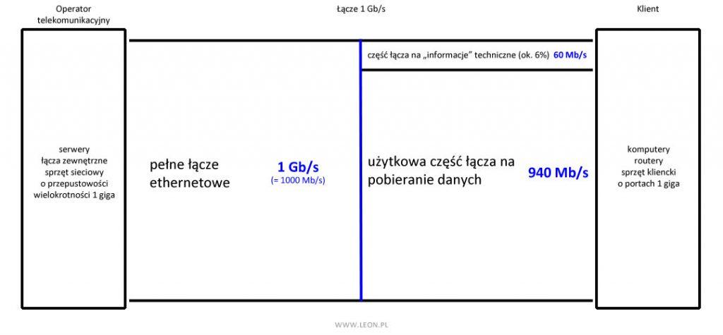 Schemat łącza 1 Gb/s